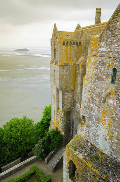 Wall Art - Photograph - Abbey Walls And Bay, Mont Saint-michel by Russ Bishop