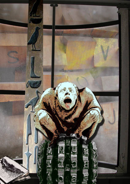 Gargoyle Digital Art - ABC by Maria Jesus Hernandez