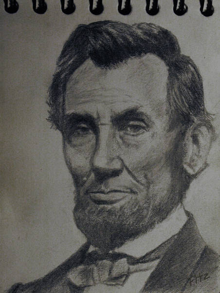 Abe Lincoln Drawing - Abe by Rick Fitzsimons
