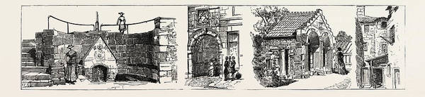Church Of Scotland Wall Art - Drawing - Aberdeen The Well Of Spa Left Old Gateway To Marischal by English School