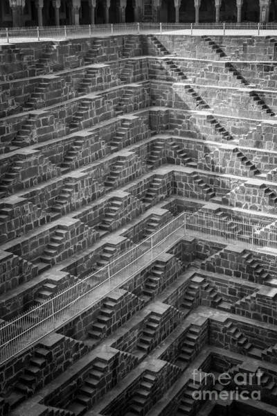 Photograph - Abhaneri Stepwell by Inge Johnsson