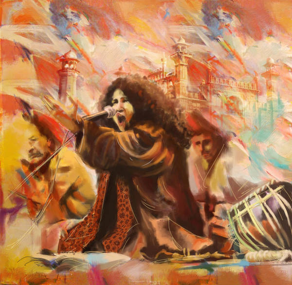 Old South Painting - Abida Parveen by Catf