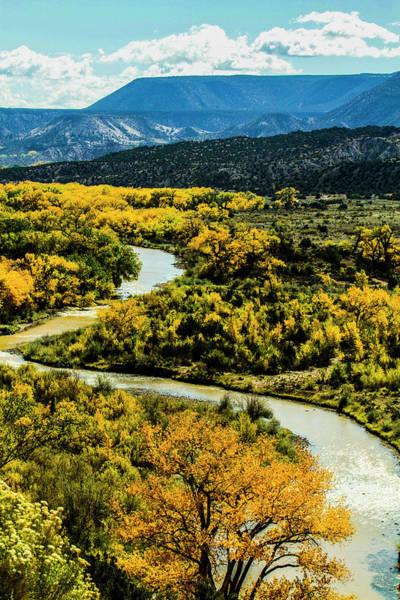 Wall Art - Photograph - Abiquiu, New Mexico, Curvy Chama River by Jolly Sienda