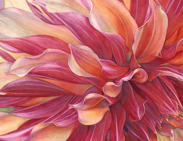 Wall Art - Painting - Ablaze by Sandy Haight