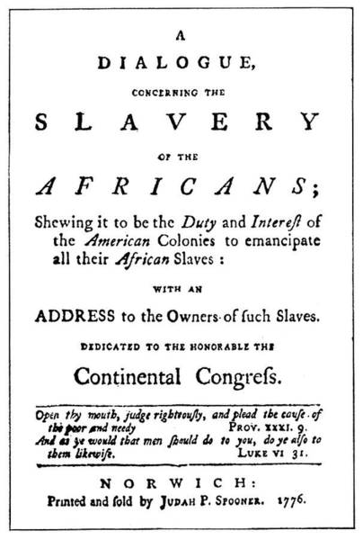 Painting - Abolitionist Tract, 1776 by Granger