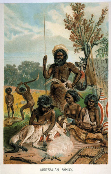 Aborigine Painting - Aboriginal Family, 1893 by Granger