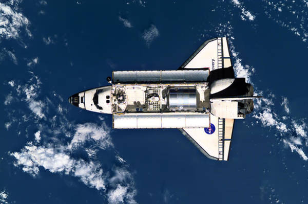 Space Shuttle Photograph - Above Earth by Ricky Barnard