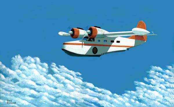 Painting - Above It All  The Grumman Goose by Gary Giacomelli