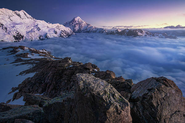 New Zealand Photograph - Above The Clouds by Yan Zhang