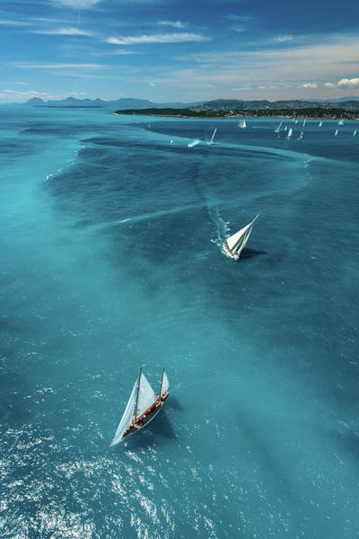 Sailing Photograph - Above The Race by Marc Pelissier