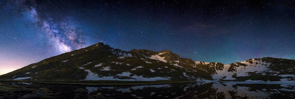 Mounted Shooting Photograph - Mt. Evans Starscape by Adam Pender