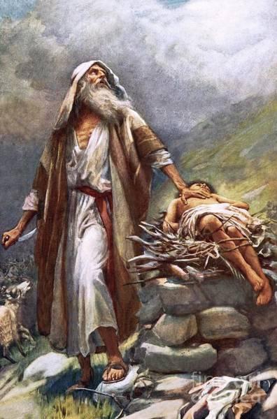 Sacrifice Painting - Abraham And Isaac by Harold Copping