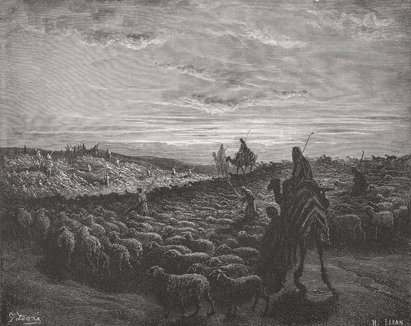 Pilgrimage Painting - Abraham Journeying Into The Land Of Canaan by Gustave Dore