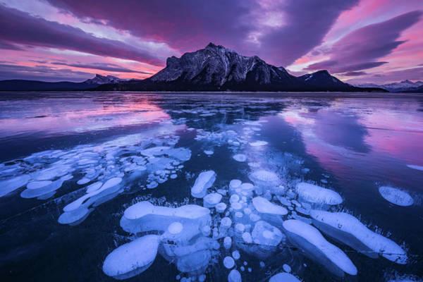 Purple Mountains Photograph - Abraham Lake 3 by April Xie