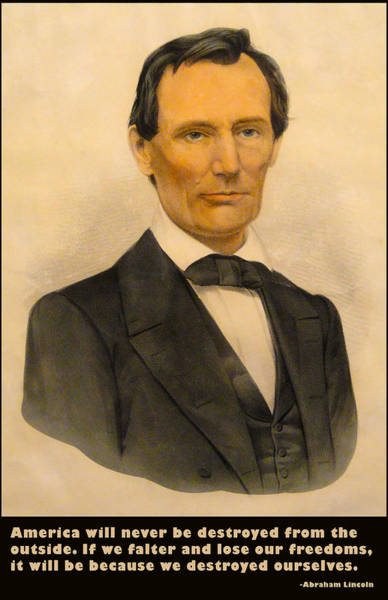 Digital Art - Abraham Lincoln 1860 by Currier and Ives