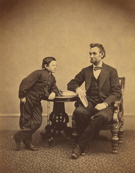 Photograph - Abraham Lincoln And His Second Son Thomas by Alexander Gardner