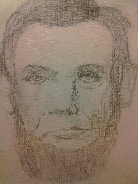 Abe Lincoln Drawing - Abraham Lincoln Doodle by Lee Farley