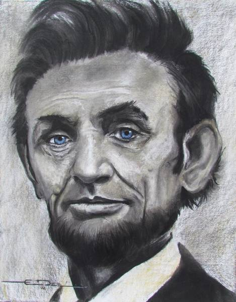 Drawing - Abraham Lincoln by Eric Dee