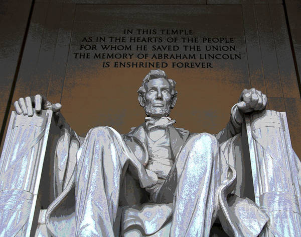 Photograph - Abraham Lincoln by Larry Oskin