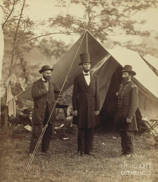 Antietam Photograph - Abraham Lincoln Near Antietam 1862 by Getty Research Institute