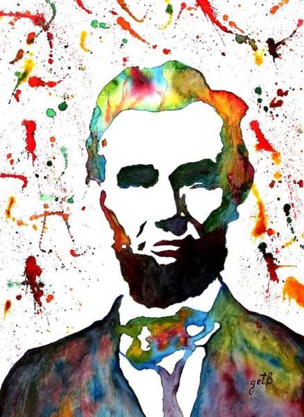 Painting - Abraham Lincoln Original Watercolor Painting by Georgeta Blanaru