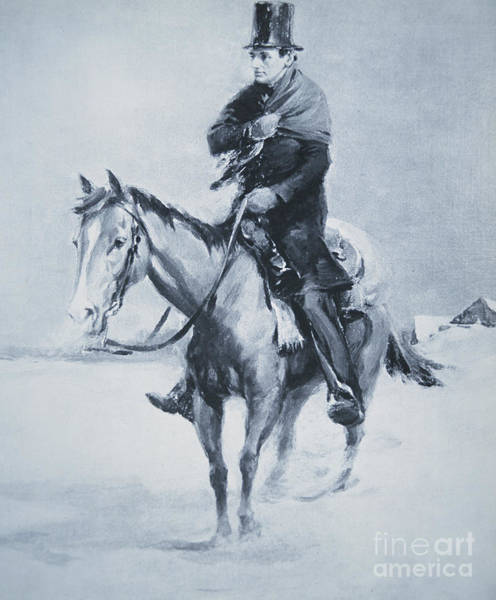 Justice Painting - Abraham Lincoln Riding His Judicial Circuit by Louis Bonhajo