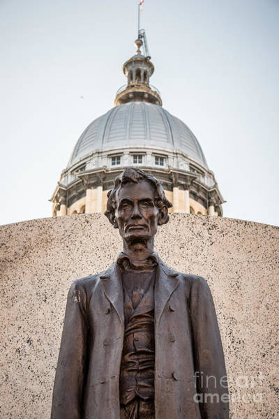 Springfield Illinois Wall Art - Photograph - Abraham Lincoln Statue At Illinois State Capitol by Paul Velgos