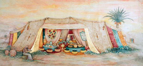Wall Art - Painting - Abraham's Tent by Michoel Muchnik
