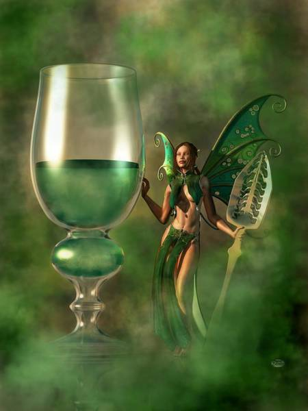 Digital Art - Absinthe by Daniel Eskridge
