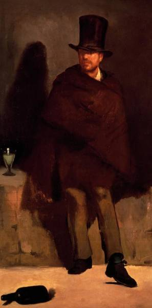 Businessman Painting - Absinthe Drinker by Edouard Manet