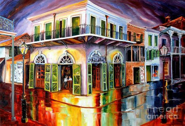 Wall Art - Painting - Absinthe House New Orleans by Diane Millsap