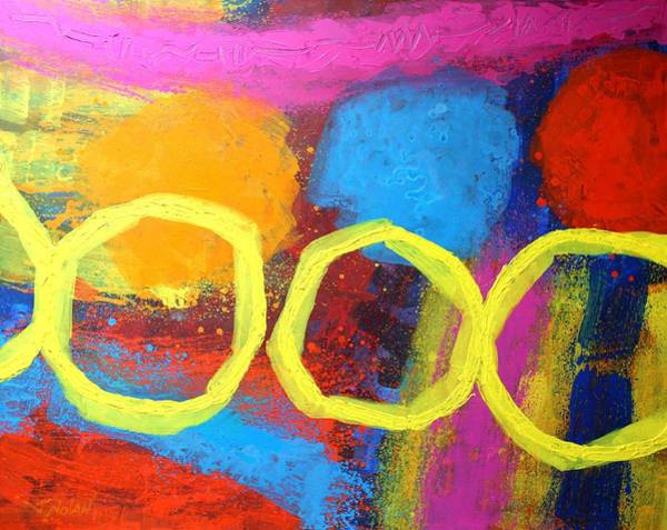 Abstract Expressionism Wall Art - Painting - Abstract 13614 by John  Nolan