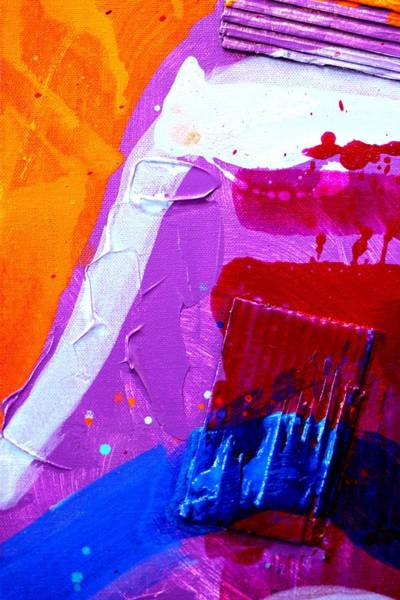 Abstract Expressionism Wall Art - Painting - Abstract  19614 Cropped Vi by John  Nolan