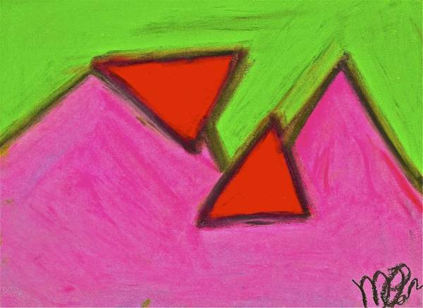 Drawing - Abstract 92-002 by Mario MJ Perron