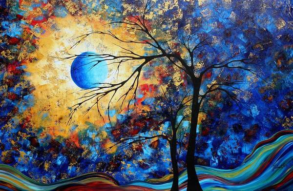 Wall Art - Painting - Abstract Art Landscape Metallic Gold Textured Painting Eye Of The Universe By Madart by Megan Duncanson