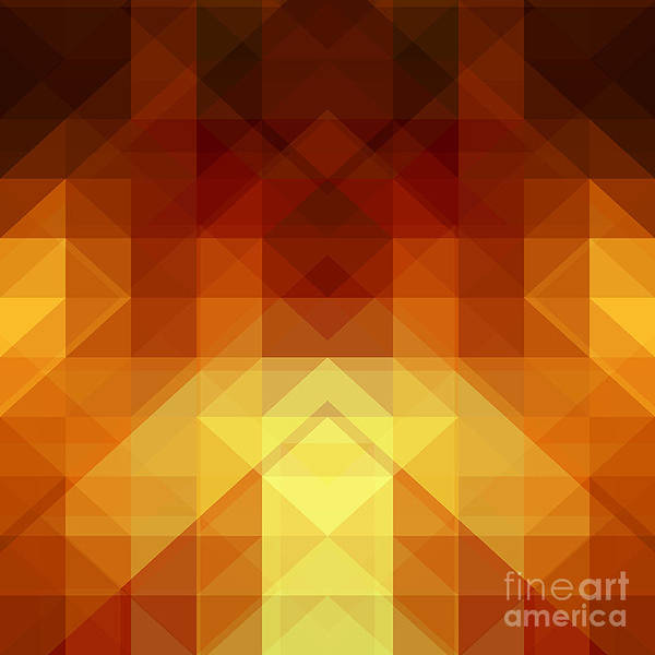 Contemporary Digital Art - Abstract Background From Triangle Shapes by Ksanagraphica