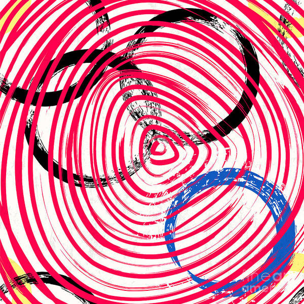 Circular Wall Art - Digital Art - Abstract Background Pattern, With by Kirsten Hinte