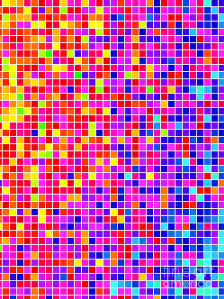 Bright Wall Art - Digital Art - Abstract Background, Vector Without by Gala