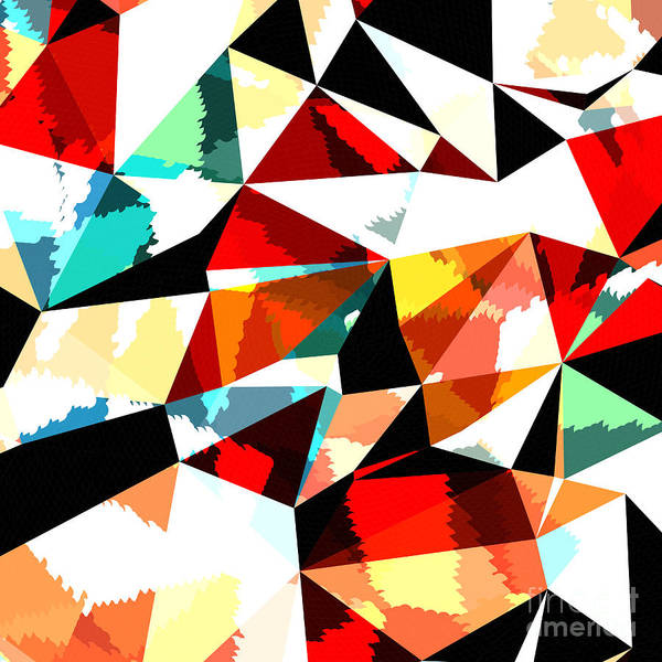 Triangle Digital Art - Abstract Background With Triangles And by Romas photo