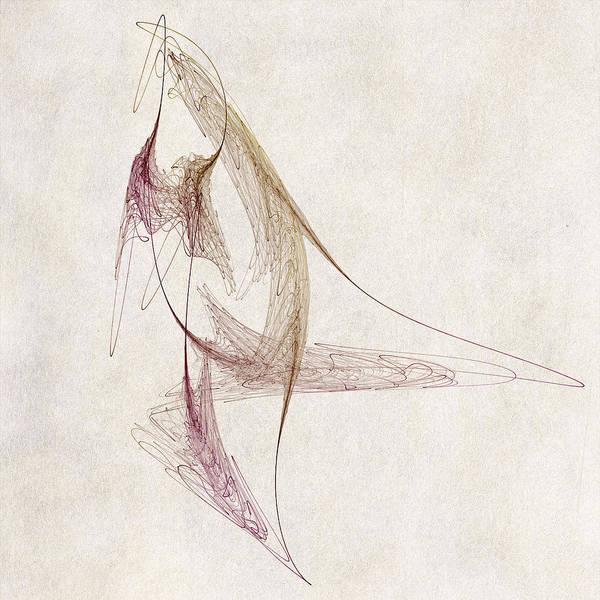 Wall Art - Digital Art - Abstract Bird by David Ridley