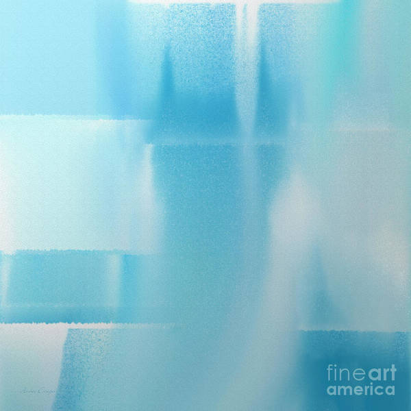 Digital Art - Abstract Blue 2 Square by Andee Design