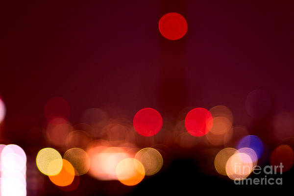 Photograph - Abstract Bokeh Lights I by Beverly Claire Kaiya