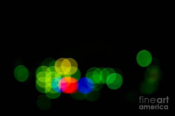 Manual Focus Wall Art - Photograph - Abstract Bokeh Lights IIi by Beverly Claire Kaiya
