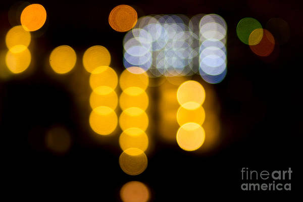 Photograph - Abstract Bokeh Lights Iv by Beverly Claire Kaiya