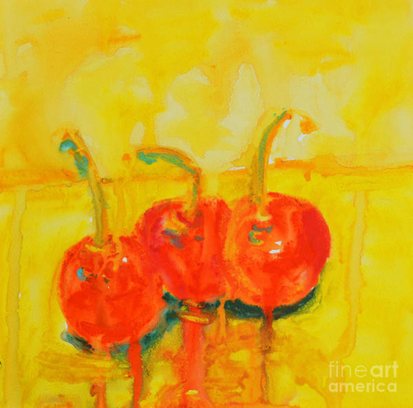 Painting - Abstract Cherries Modern Art by Patricia Awapara