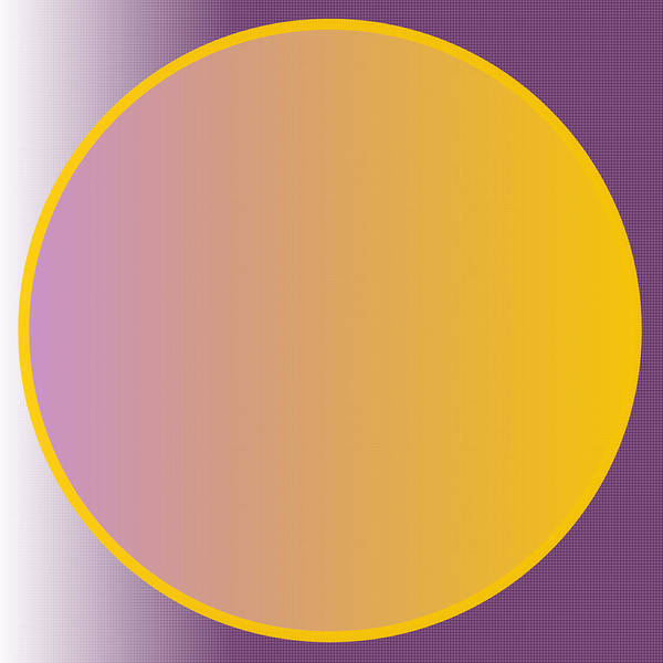 Digital Art - Abstract Circle - Purple And Orange by Celestial Images