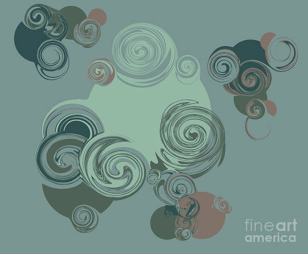 Wall Art - Digital Art - Abstract Circles Pattern Background by Castecodesign