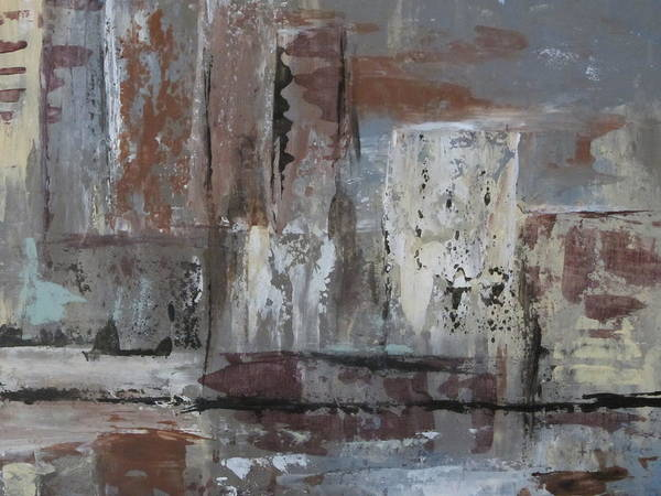 Painting - Abstract City Close Up 2 by Anita Burgermeister