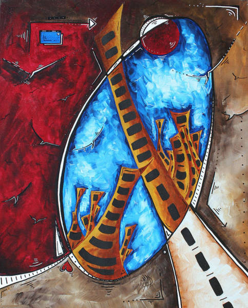 Wall Art - Painting - Abstract Cityscape City Art Original Painting Inner World By Madart by Megan Duncanson