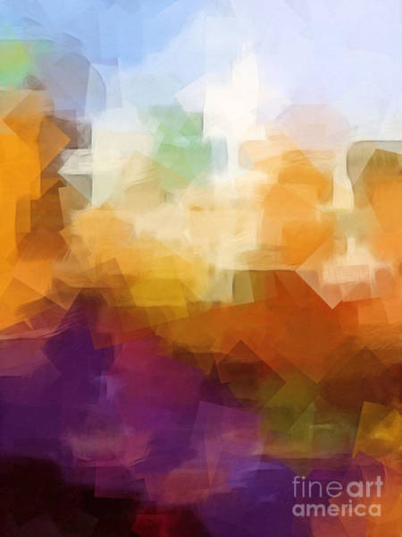 Cubic Digital Art - Abstract Cityscape Cubic by Lutz Baar